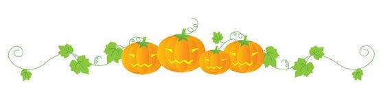 Halloween divider vector illustration