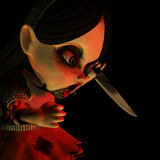 Halloween Doll 16. You were warned Royalty Free Stock Photography
