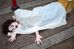 Halloween Doll woman creepy zombie Stock Image