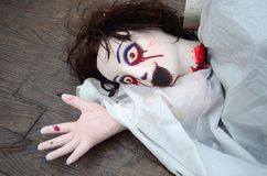 Halloween Doll woman creepy zombie Stock Photos