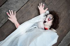 Halloween Doll woman creepy zombie Royalty Free Stock Photos