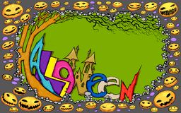 Halloween Doodle Royalty Free Stock Image