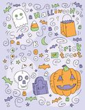 Halloween Doodle Royalty Free Stock Images