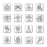 Halloween Doodle Icons Royalty Free Stock Image