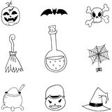 Halloween doodle set collection Stock Photography