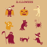Halloween doodle Stock Image