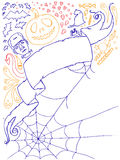 Halloween Doodles 1. Selection of hand drawn Halloween images Royalty Free Stock Image