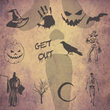 Halloween doodles Stock Photos