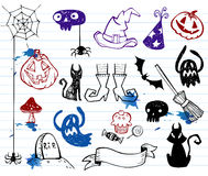 Halloween doodles Royalty Free Stock Photo
