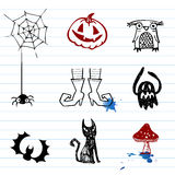 Halloween doodles Royalty Free Stock Photography