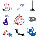 Halloween doodles Stock Photo