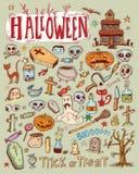 Halloween doodles elements. vector illustration. Stock Photography