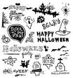 Halloween doodles Stock Image