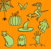 Halloween doodles Stock Photo