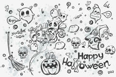 Halloween doodles - vector illustration. Cute hand drawn Halloween doodles - vector illustration Royalty Free Stock Photos