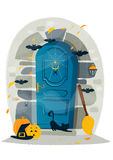 Halloween door Royalty Free Stock Photography
