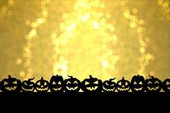 Halloween dorato Immagini Stock