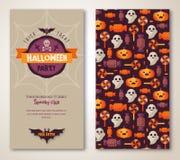Halloween dos lados cartel o aviador Imágenes de archivo libres de regalías