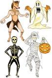 Halloween dräkter Arkivfoto