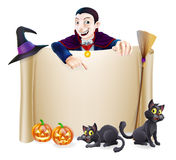 Halloween Dracula Banner Stock Images