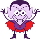 Halloween Dracula being mischievous Royalty Free Stock Images