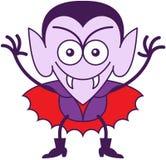 Halloween Dracula che è maligno Immagini Stock Libere da Diritti