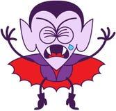 Halloween Dracula che grida amaramente Immagini Stock
