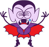 Halloween Dracula crying bitterly Stock Images