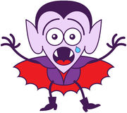 Halloween Dracula feeling scared Royalty Free Stock Photo