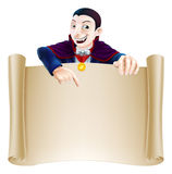 Halloween Dracula Scroll Royalty Free Stock Photos