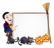 Halloween Dracula Sign Stock Photography
