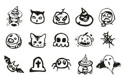 Halloween Drawing Set Royalty Free Stock Images