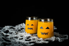 Halloween drink pumpkin juice Stock Photos