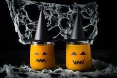 Halloween drink pumpkin juice Stock Images