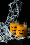 Halloween drink pumpkin juice Royalty Free Stock Photos