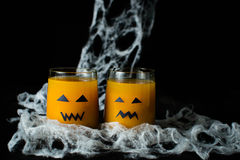 Halloween drink pumpkin juice Royalty Free Stock Images