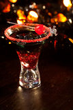 Halloween drinks - Devil's Blood Cocktail Royalty Free Stock Image