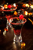Halloween drinks - Devil's Blood Cocktail Stock Images