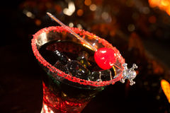 Halloween drinks - Devil's Blood Cocktail stock photography