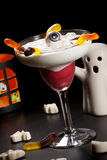 Halloween drinks - Raspberry Vanila Daiquiri Royalty Free Stock Image