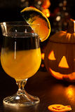 Halloween drinks - Rotten Pumpkin Cocktail Stock Images