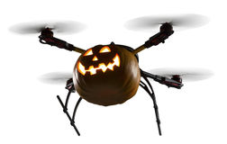 Halloween Drone on White royalty free stock images