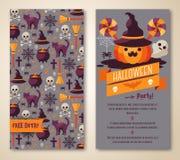 Halloween due lati manifesto o aletta di filatoio Immagine Stock Libera da Diritti
