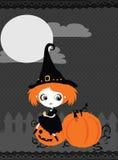 Halloween dyniowa Karta Zdjęcia Royalty Free