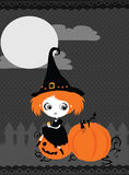 Halloween dyniowa Karta royalty ilustracja