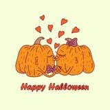halloween Dyniowy kochanka buziak ilustracja wektor