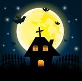 halloween dzień na dużej księżyc royalty ilustracja