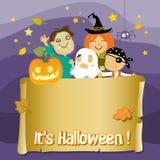 halloween dzieciaki Zdjęcia Stock