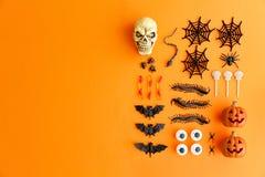 Halloween-Ebenenlage stockfotos