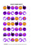 Halloween educational logic game - sequential pattern recognition Royalty Free Stock Photo